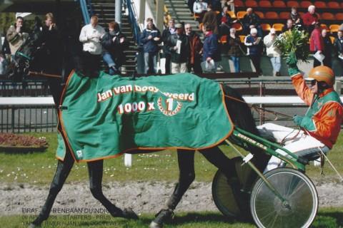 1000ste overwinning Jan van Dooyeweerd jr.